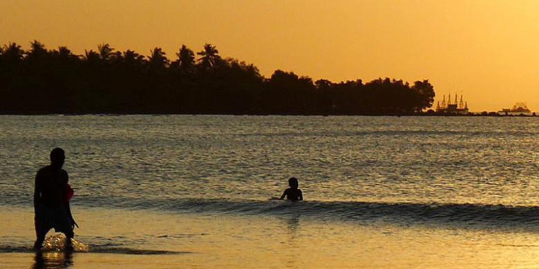 Amboi Panoramanya Setengah Mati Jalannya Kompas Pantai Ciputih Kab Pandeglang