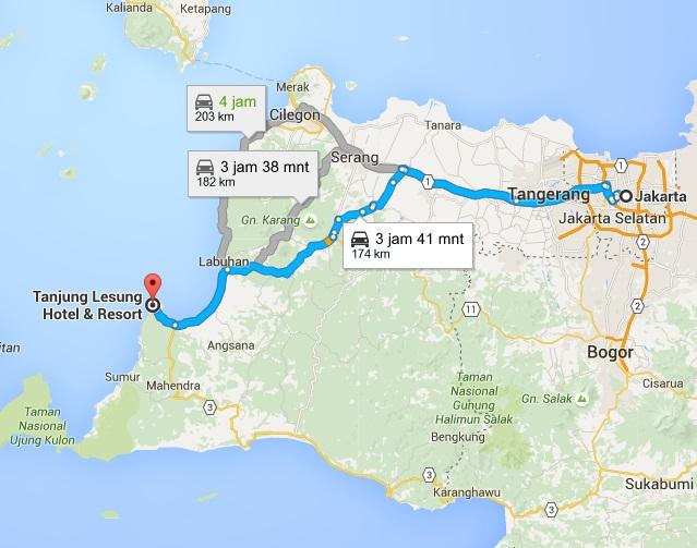 Pantai Terkenal Banten Dilengkapi Peta Perjalanan Wisata Mudik Tanjung Lesung