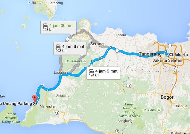 Pantai Terkenal Banten Dilengkapi Peta Perjalanan Wisata Mudik Pulau Umang