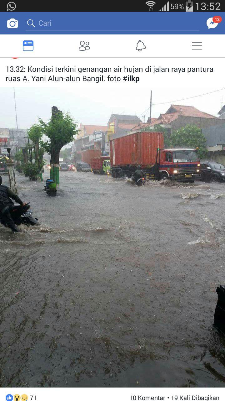Jalur Pantura Bangil Pasuruan Dilanda Banjir Warta Online Alun Kab
