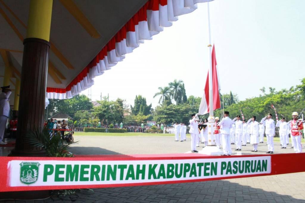 Kapolres Pasuruan Hadiri Upacara Proklamasi Kemerdekaan Indonesia Alun Bangil Kab