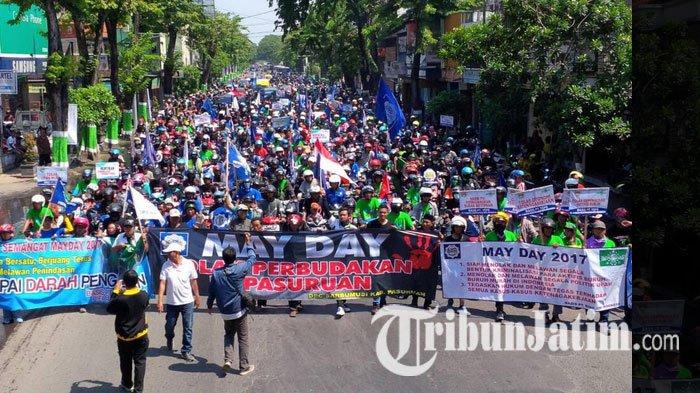 Ribuan Buruh Padati Alun Bangil Pasuruan Akibatnya Kab