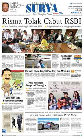 Paper Surya Edisi 10 Januari 2013 Harian Issuu Page 1