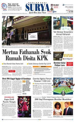 Paper Surya Edisi 11 Mei 2013 Harian Issuu Page 1