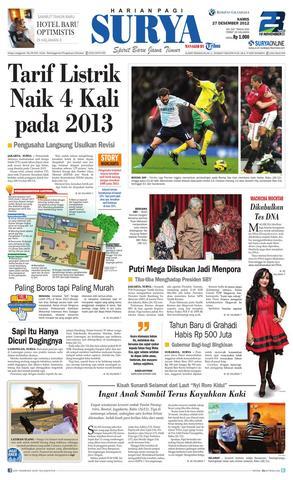 Paper Surya Edisi 27 Desember 2012 Harian Issuu Page 1