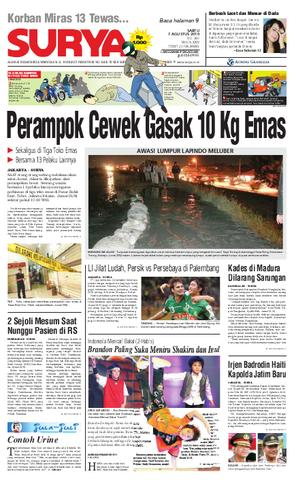 Surya Edisi Cetak 07 Agustus 2010 Harian Issuu Page 1