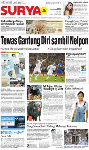 Surya Edisi Cetak 24 Agustus 2010 Harian Issuu 11 Sept