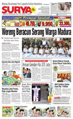 Surya Edisi Cetak 24 Agustus 2010 Harian Issuu 8 Juli