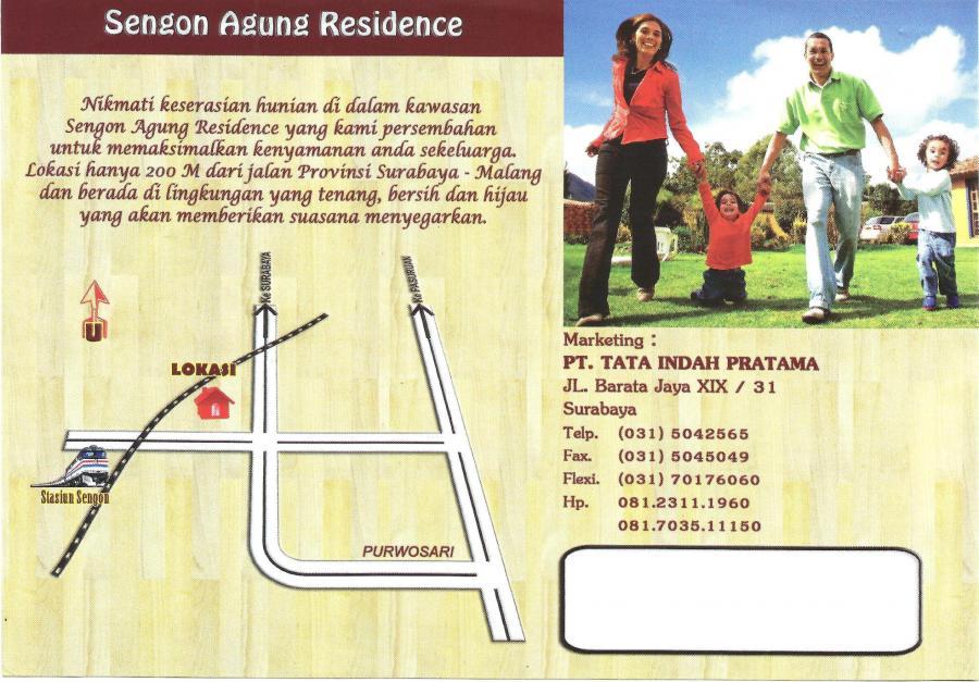Rumah Dijual Sengon Agung Residence Purwosari Pasuruan Jatim Taman Air
