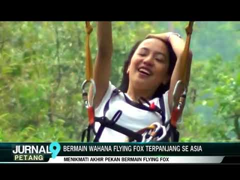 Bermain Wahana Flying Fox Terpanjang Se Asia Jurnal9 Youtube Tretes