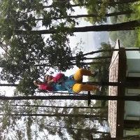 Tretes Treetop Adventure Park Chemin Photo Prise Au Par Aza