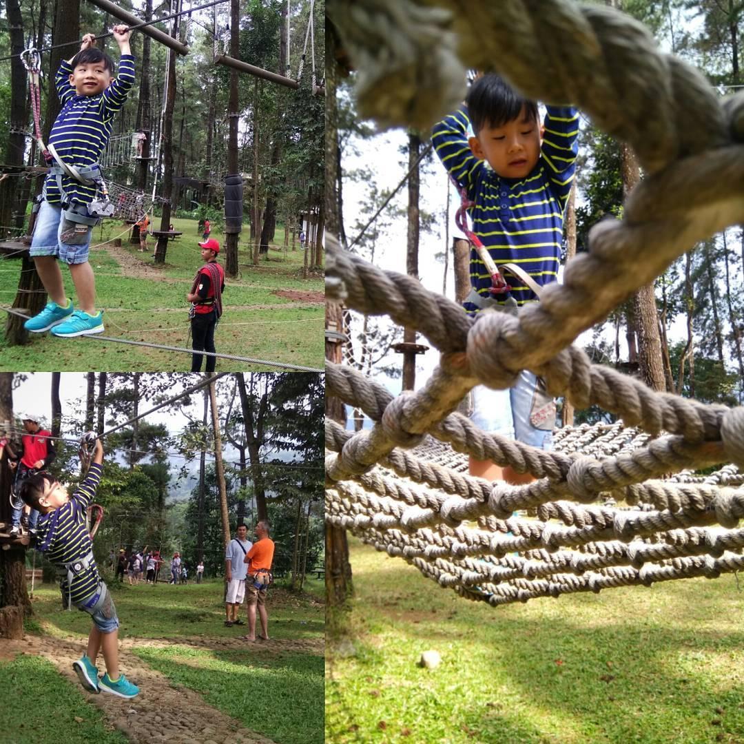 Tretes Treetop Adventure Park Flying Fox Terpanjang Asia Harga Tiket