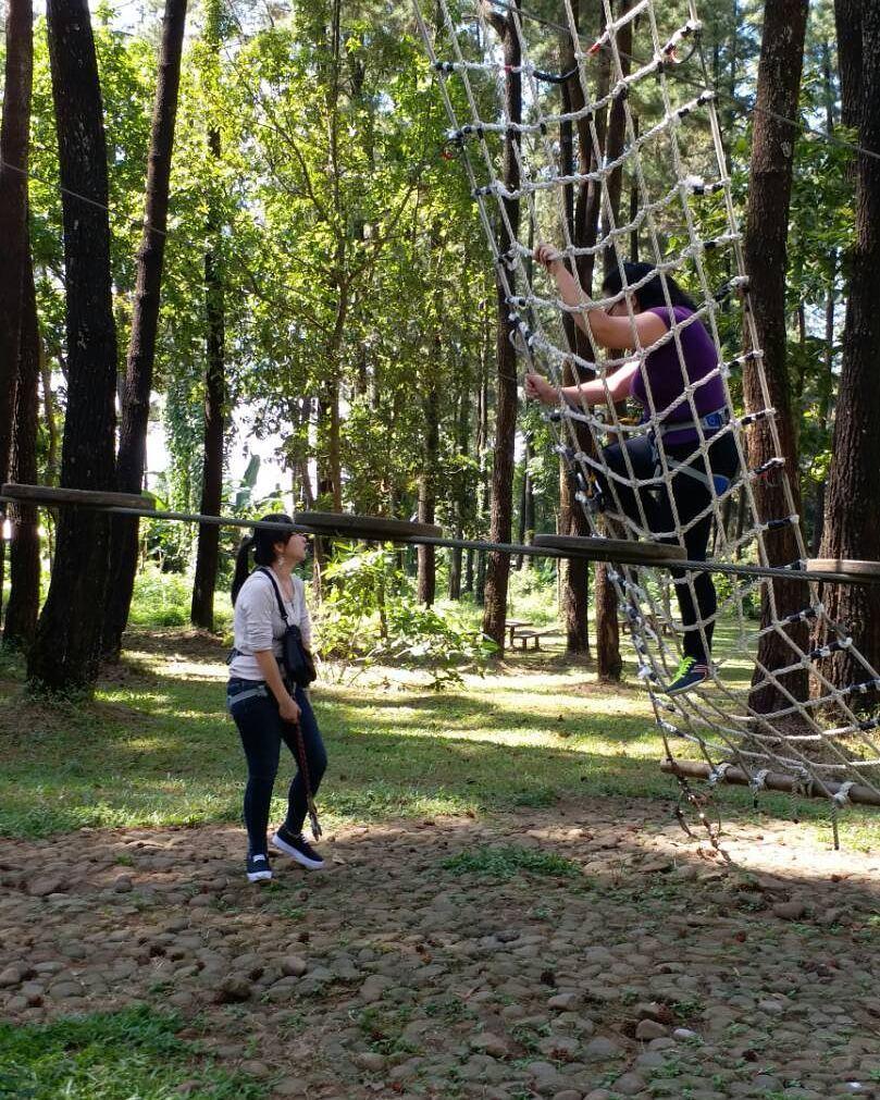 Tretes Treetop Adventure Park Flying Fox Terpanjang Asia Lokasi Kab