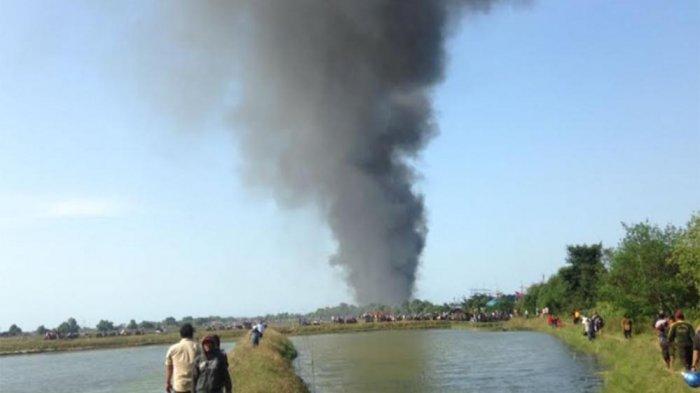 Foto Kebakaran Dahsyat Hanguskan 14 Kapal Juwana Kabupaten Pati Terbakar