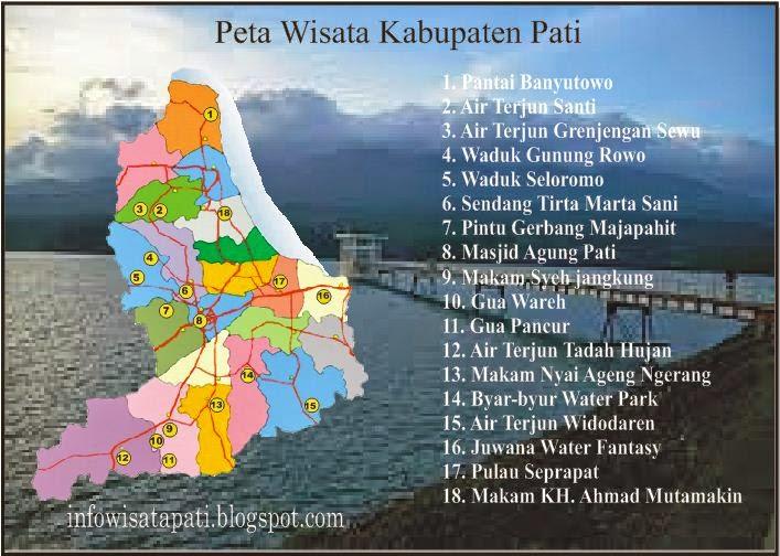 Info Wisata Kabupaten Pati Peta Pulau Seprapat Juwana Kab