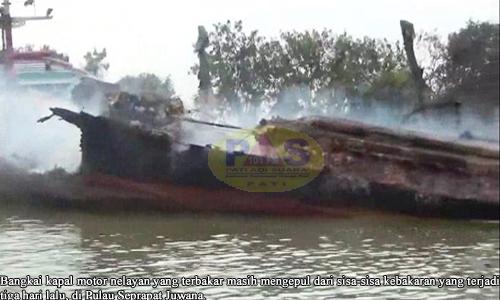 Tim Inafis Polda Jateng Selidiki Kebakaran Kapal Nelayan Juwana Jawa