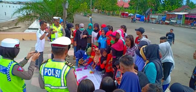 Giat Unit Patroli Sat Res Polman Kegiatan Tetsebut Dilakukan Pantai