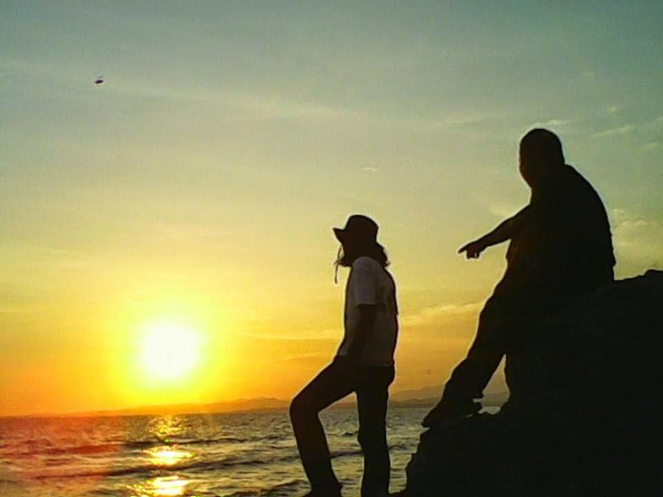 Menikmati Sunset Susur Gua Pantai Labuang Kab Polewali Campalagian Mandar