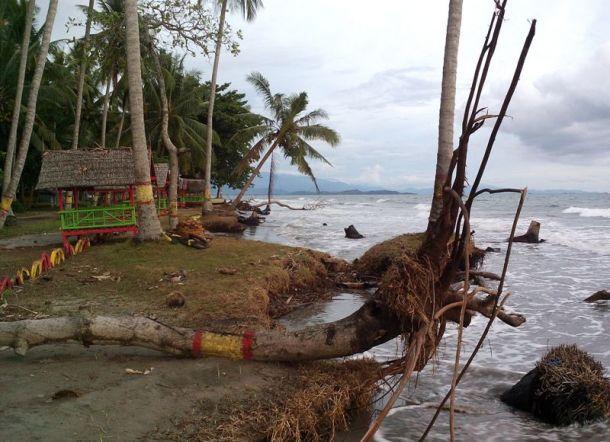 Pantai Mampie Nyaris Tenggelam Digerus Abrasi Kab Polewali Mandar