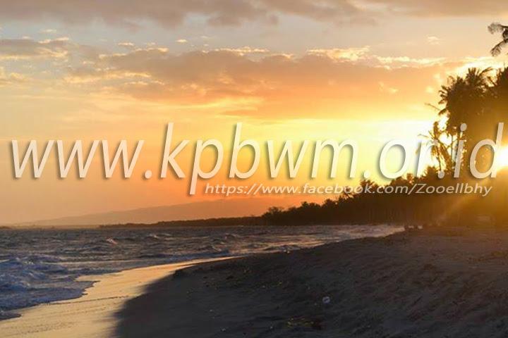 Pesona Pantai Mampie Senja Polewali Mandar Kab