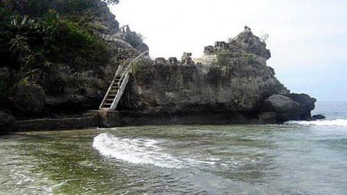 Keindahan Laut Lepas Pantai Palippis Celebes Tebing Karang Sulawesi Kab