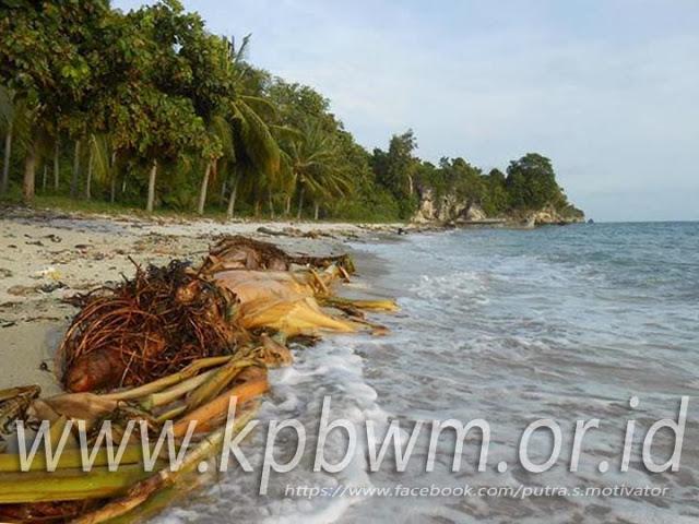 Sampah Bersemayam Pantai Palippis Pesisir Sulawesi Barat Kab Polewali Mandar