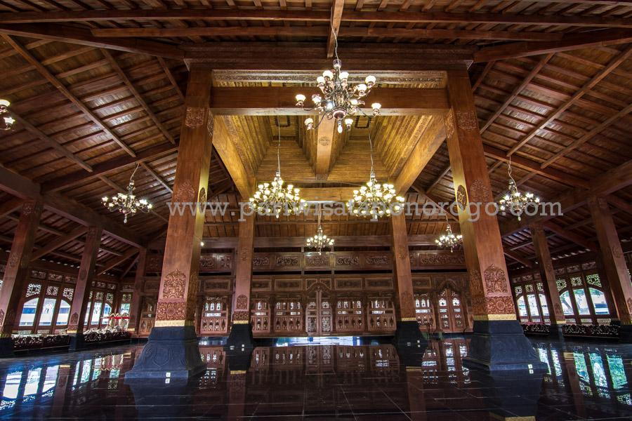 Gedung Pendopo Kabupaten Ponorogo Wisata Indah Bagian Agung Masjid Kota