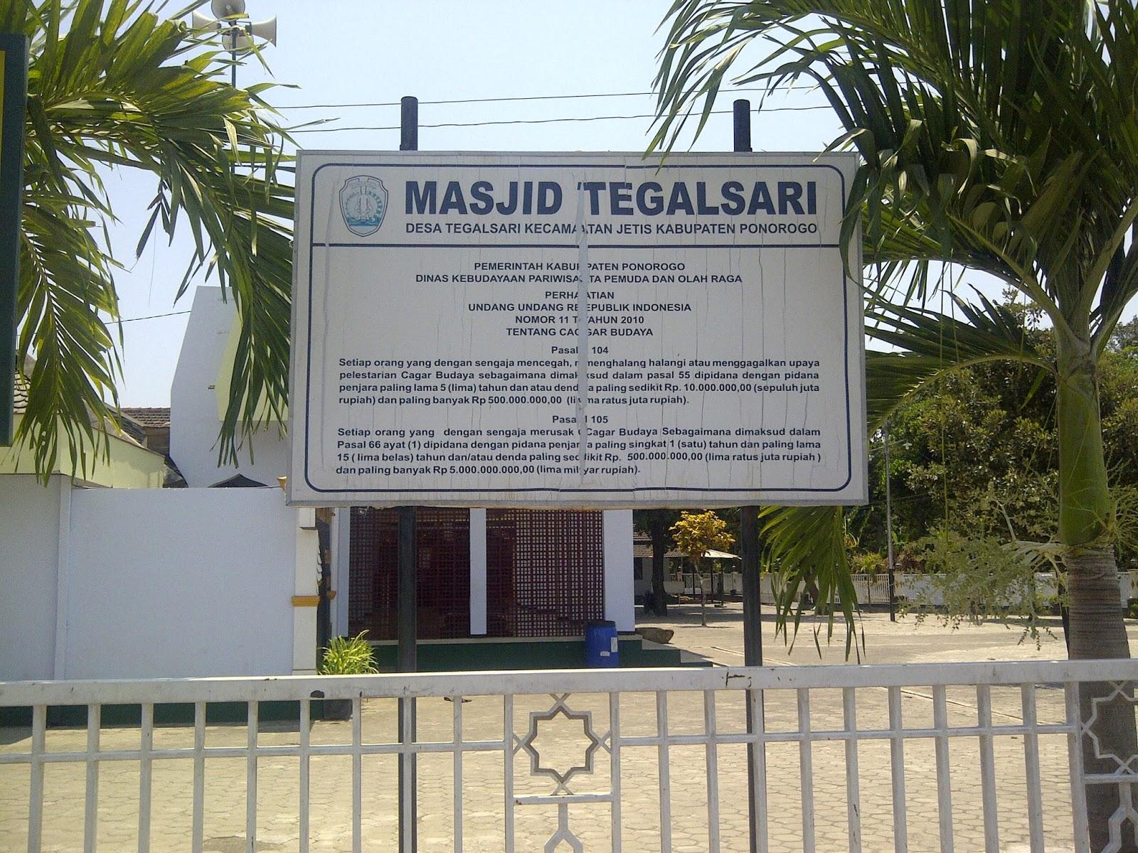 Masjid Tegalsari Wisata Religi Ponorogo Ayo Nge Trip Terletak Desa