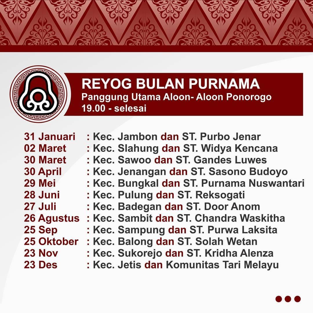 Dinas Pariwisata Ponorogo Dinaspariwisataponorogo Instagram Profile Salam Budaya Berikut Agenda
