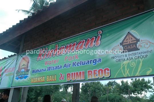 Kawasan Wisata Kintamani Waterpark Buka Taman Air Kab Ponorogo
