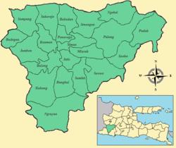 Daftar Kecamatan Kelurahan Kabupaten Ponorogo Wikipedia Map Png Wisata Reog