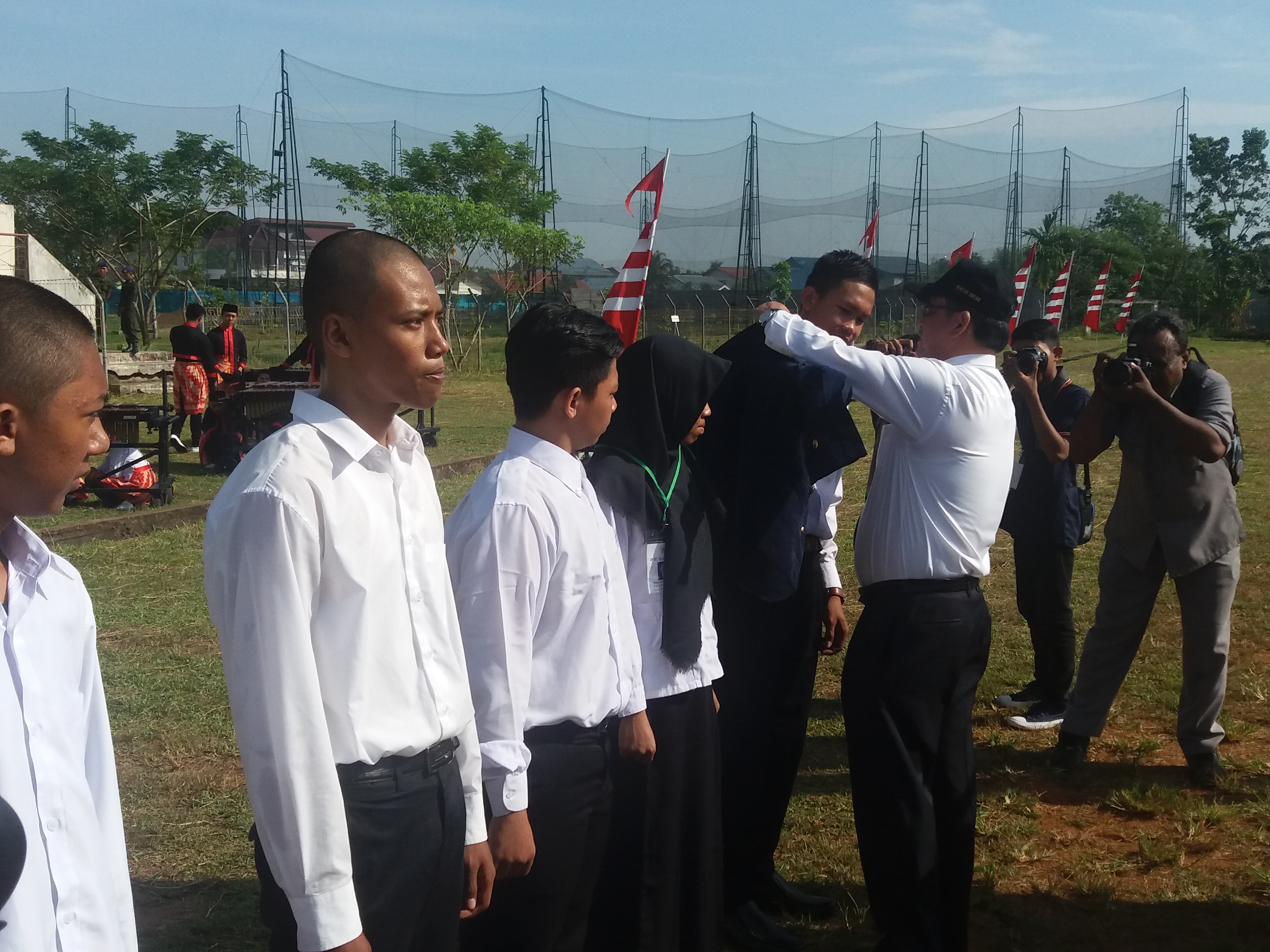 Pimpin Upacara Penyambutan Mahasiswa Rektor Untan Mari Foto Memimpin Peyambutan