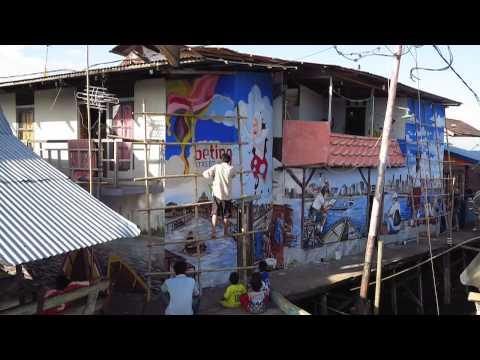 Beting Village Street Art Timelapse Youtube Kampung Kab Pontianak