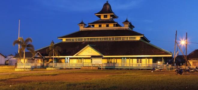 Masjid Jami Sultan Syarif Abdurrahman Tertua Pontianak Kalimantan Barat Wisata