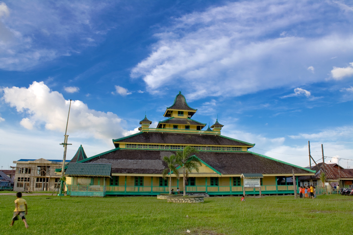Rindu Masjid Jami Sultan Syarif Abdurrahman Tertua Pontianak Kalimantan Barat