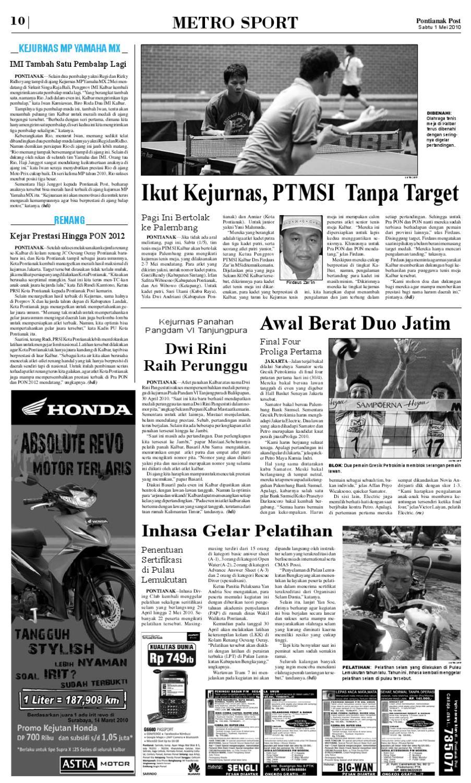 Pontianak Post Issuu Kolam Renang Jc Oevang Oeray Kab