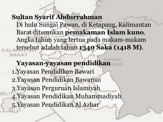 Masuknya Islam Pontianak Mia 5 Kel 4 Sultan Makam Kesultanan