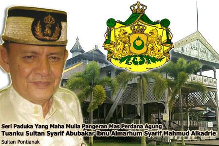 Pon Sultan Pontianak Syarif Abubakar Alkadrie Kesultanan Kerajaan Indonesia Makam