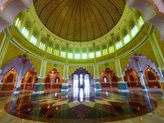Indahnya Gemerlap Masjid Agung Al Ikhlas Ketapang Pontianak Post Raya