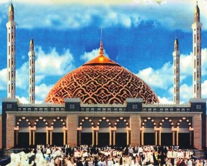 Masjid Agung Masing Provinsi Magzonia Desain Al Mujahidin Raya Pontianak