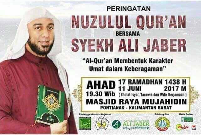 Nuzulul Quran Syekh Ali Jaber Masjid Raya Mujahidin Pontianak Qur