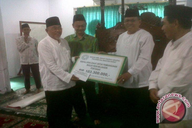 Pembangunan Masjid Raya Mujahidin Pontianak 18 Persen Antara Kab