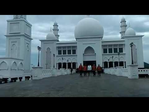 Setelah Meresmikan Jokowi Tinjau Masjid Agung Sukadana Youtube Tribun Pontianak