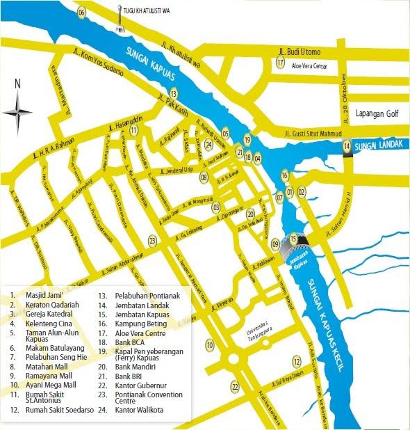 Info Kalbar Peta Kota Pontianak Rabu 27 April 2011 Musium
