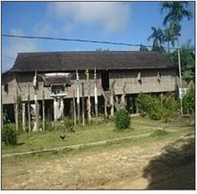 Arsitektur Dayak Wikipedia Bahasa Indonesia Ensiklopedia Bebas Rumah Betang Toyoi