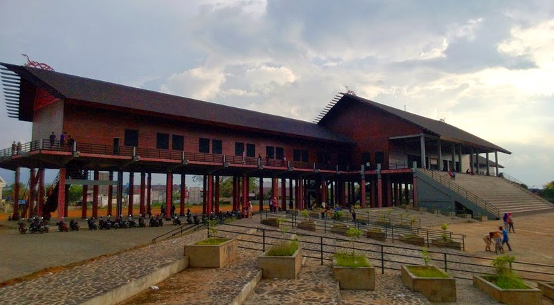 Rumah Betang Radakng Adat Dayat Kalimantan Barat Kab Pontianak