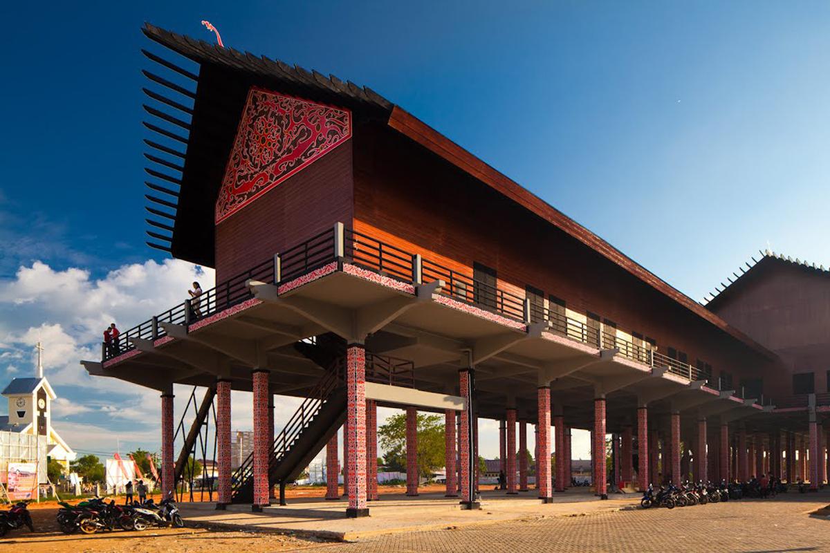 Rumah Radakng Pontianak Kalimantan Barat Betang Kab