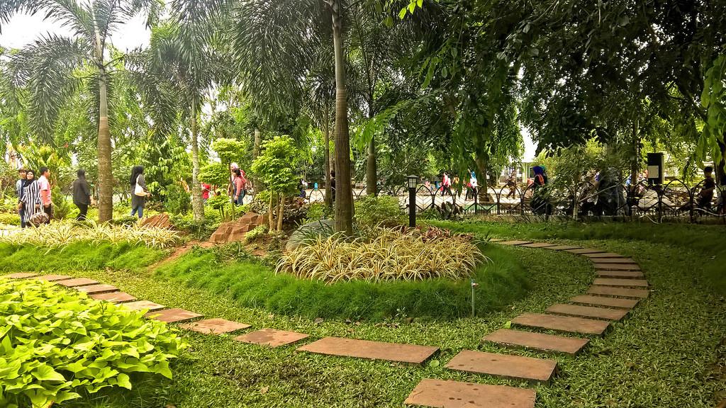 Bakanekobaka Taman Alun Kapuas Februari 2016 Penataan Jalan Setapak Mempercantik