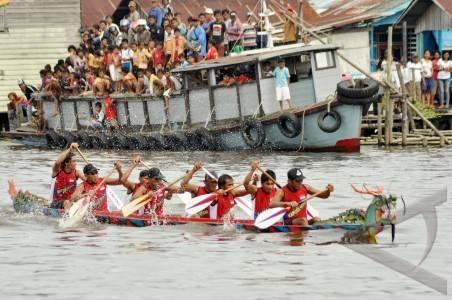 Kabupaten Pontianak Juara Lomba Sampan Fsbm Harian Kal Bar Turut