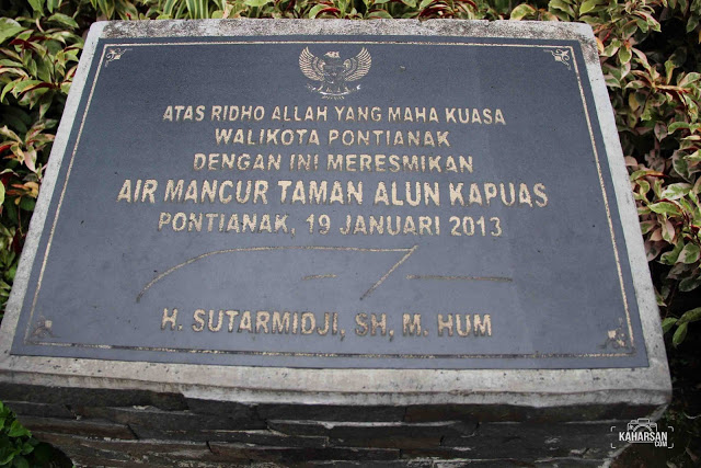 Taman Alun Kapuas Tempat Wisata Kota Pontianak Peresmian Kaharsan Kab